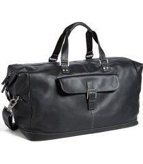 men's boconi tyler leather cargo duffle bag - black