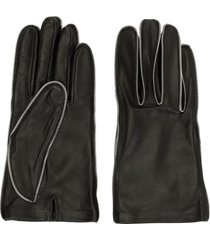 alexander wang zipper teeth gloves - black