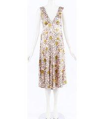 marni floral print silk midi dress