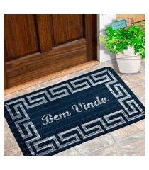 capacho carpet bem vindo rustico azul único love decor