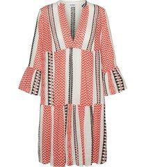 azra 3/4 sleeve v-neck dress