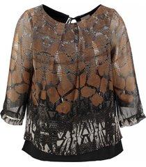 vero moda blouse twee lagen 3/4 mouw