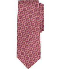 corbata connected bits print rojo brooks brothers