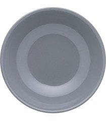 conjunto de 6 pratos fundos 20,5cm unni grey