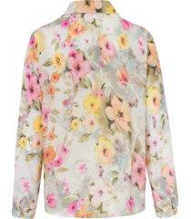blouse met lange mouwen en bloemenprint van mayfair by peter hahn multicolour