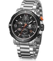 reloj de hombre t5 pulso acero h3640g-a - plateado/negro