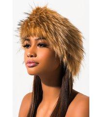 akira faux fur wrap around headband
