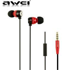 audífonos bluetooth manos libres inalámbricos, awei es-q38i altavoz de aislamiento de ruido de alto rendimiento auricular de sonido claro (rojo)
