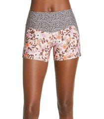 women's maaji rose linzie reversible swim shorts, size xx-large - pink