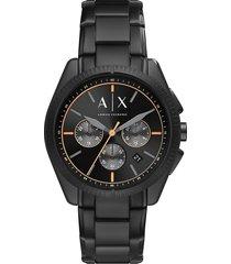 armani collezioni armani exchange stainless steel mens watch