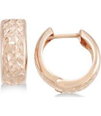 textured wide huggie hoop earrings