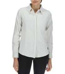 camisa mujer m/l long sleeve whisper perla merrell