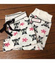 new pj salvage s always on vacay lounge pajama pants ivory dog print