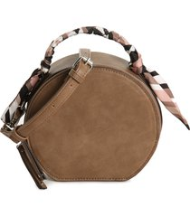 kelly & katie women's faine crossbody bag faux leather with scarf mushroom from sole society