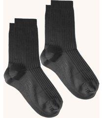 women's comfort silky ribbed crew socks, pack of 2