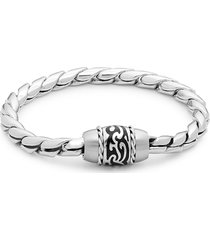 saks fifth avenue men's tattoo stainless steel bracelet
