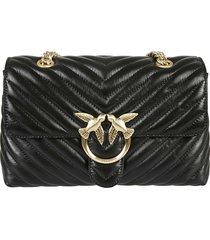 pinko love classic puff maxy quilt shoulder bag