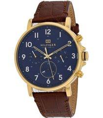 reloj tommy hilfiger 1710380 marrón cuero