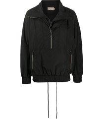 maison kitsuné double collar jacket - black
