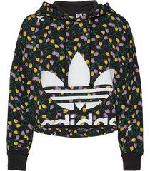 aop crop hoodie hoodie trui multi/patroon adidas originals