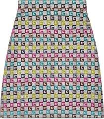 gucci velvet g lurex skirt - metallic
