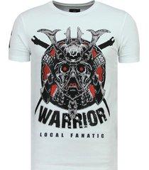 t-shirt korte mouw local fanatic savage samurai stoere w