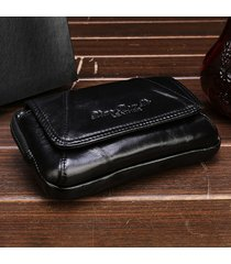 vintage vera pelle 6 pollici telefono borsa vita borsa crossbody borsa per gli uomini