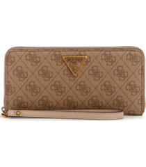 guess noelle large zip around wallet