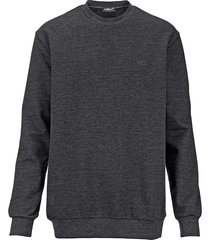sweatshirt men plus mörkgrå