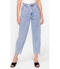 womens wash me work it high-waisted relaxed jeans - blue