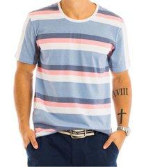 camiseta masculina bã¡sica listras colors total sublimada - area verde - multicolorido - masculino - dafiti