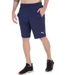 bermuda puma energy knit 10 - masculina - azul esc/verde esc