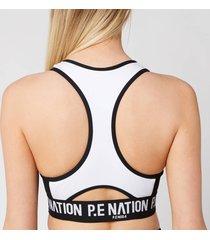 p.e nation women's centre forward sports bra - white - l