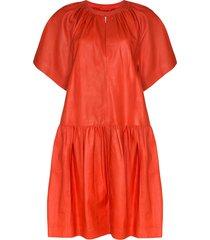 stand studio kaitlyn drop-waist dress - red