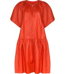 stand studio kaitlyn drop-waist dress - red