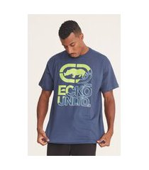 camiseta ecko plus size estampada azul
