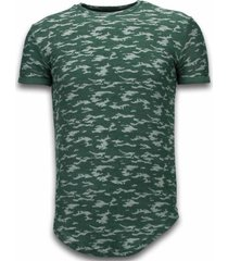 fashionable camouflage t-shirt - long fit shirt army pattern