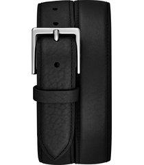 men's shinola bombay tab leather belt, size 42 - black