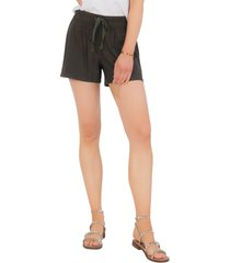 women's kut from the kloth elastic waist shorts, size x-large - green