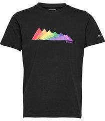 men's sun trek short sleeve graphic tee t-shirts short-sleeved svart columbia