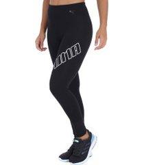 calça legging puma yogini logo - feminina - preto