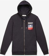 crest hoodie blue l