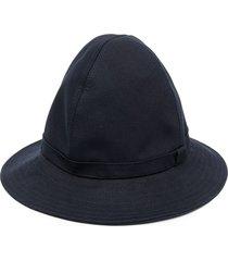 ami paris wide brim bucket hat - blue