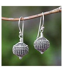 sterling silver dangle earrings, 'sanur lanterns' (indonesia)