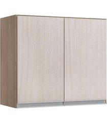 armário aéreo duplo 2 portas karen malbec / avelã - lc móveis