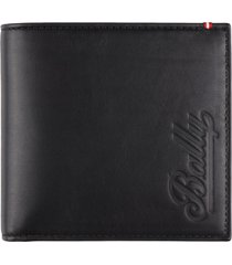 bally leather flap-over wallet