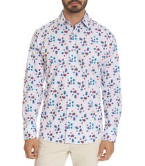 robert graham men's classic-fit amoy long-sleeve sport shirt - white multi - size l