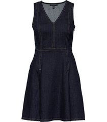 denim fit & flare dress kort klänning banana republic