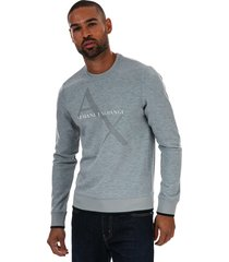 mens diagonal grid tricolour sweatshirt