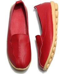 socofy donna scarpe basse casual in pelle morbida a grande taglia